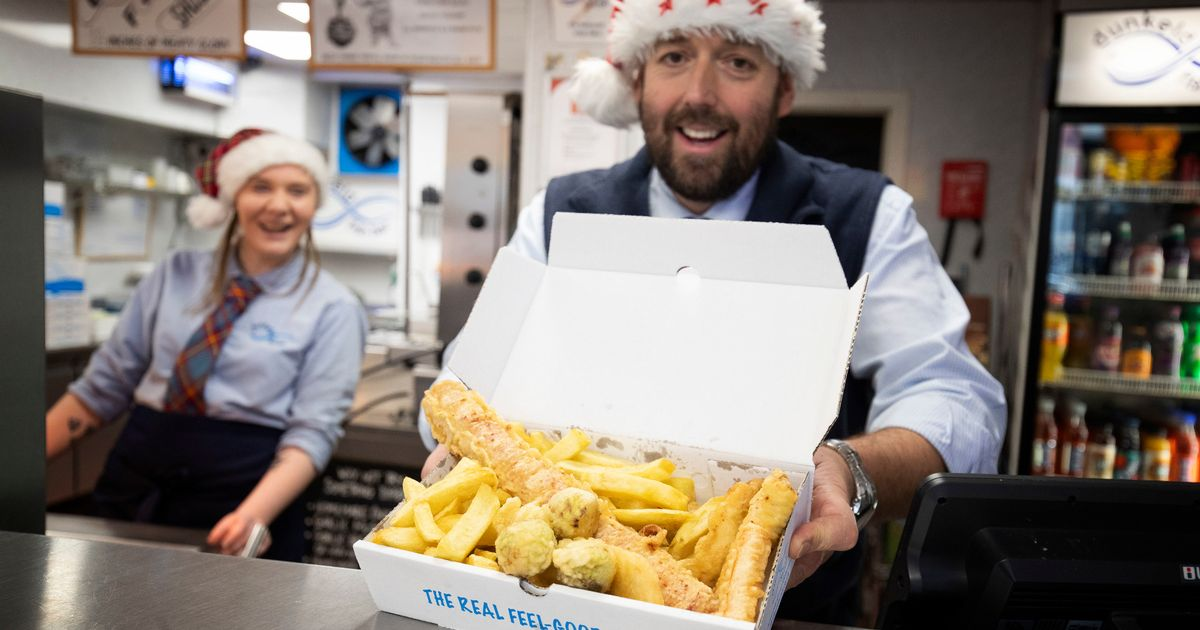 Chip shop serves up deep-fried Christmas dinner – with battered sprouts