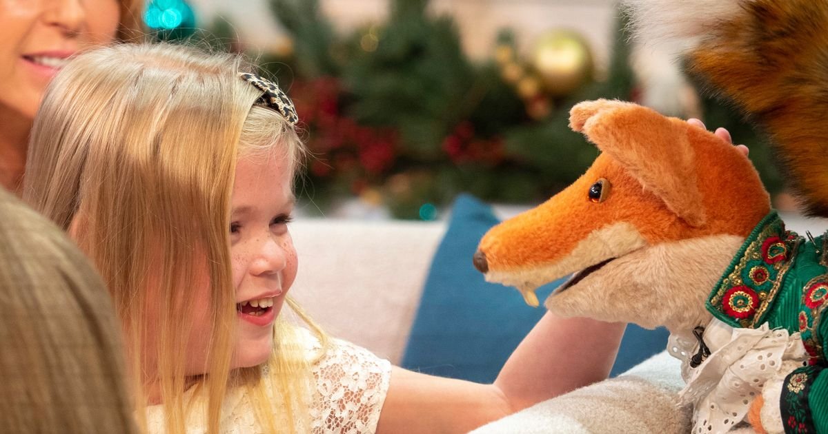 Pride of Britain winner's cute reaction to Christmas gift from Basil Brush