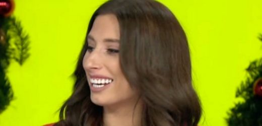 Stacey Solomon complimented on her 'Christmas puddings' in X-rated moment