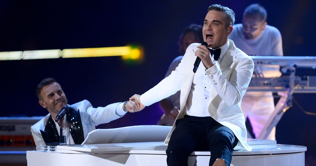 X Factor's Robbie Williams reunites with Take That but there is a major problem