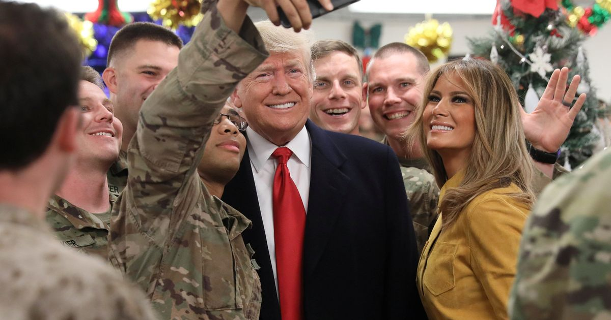 Donald Trump visits US Army troops in Iraq with wife Melania