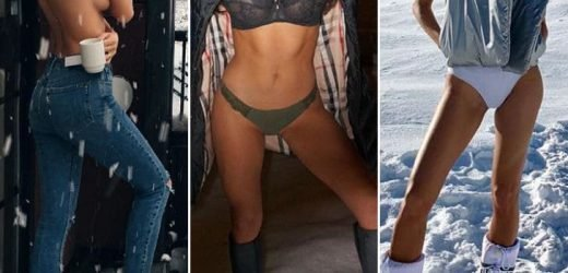 Hot Babes In Cold Snow — Guess Who!