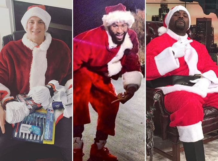 Sports Stars Rock Their Best Santa Outfits For Christmas!!!