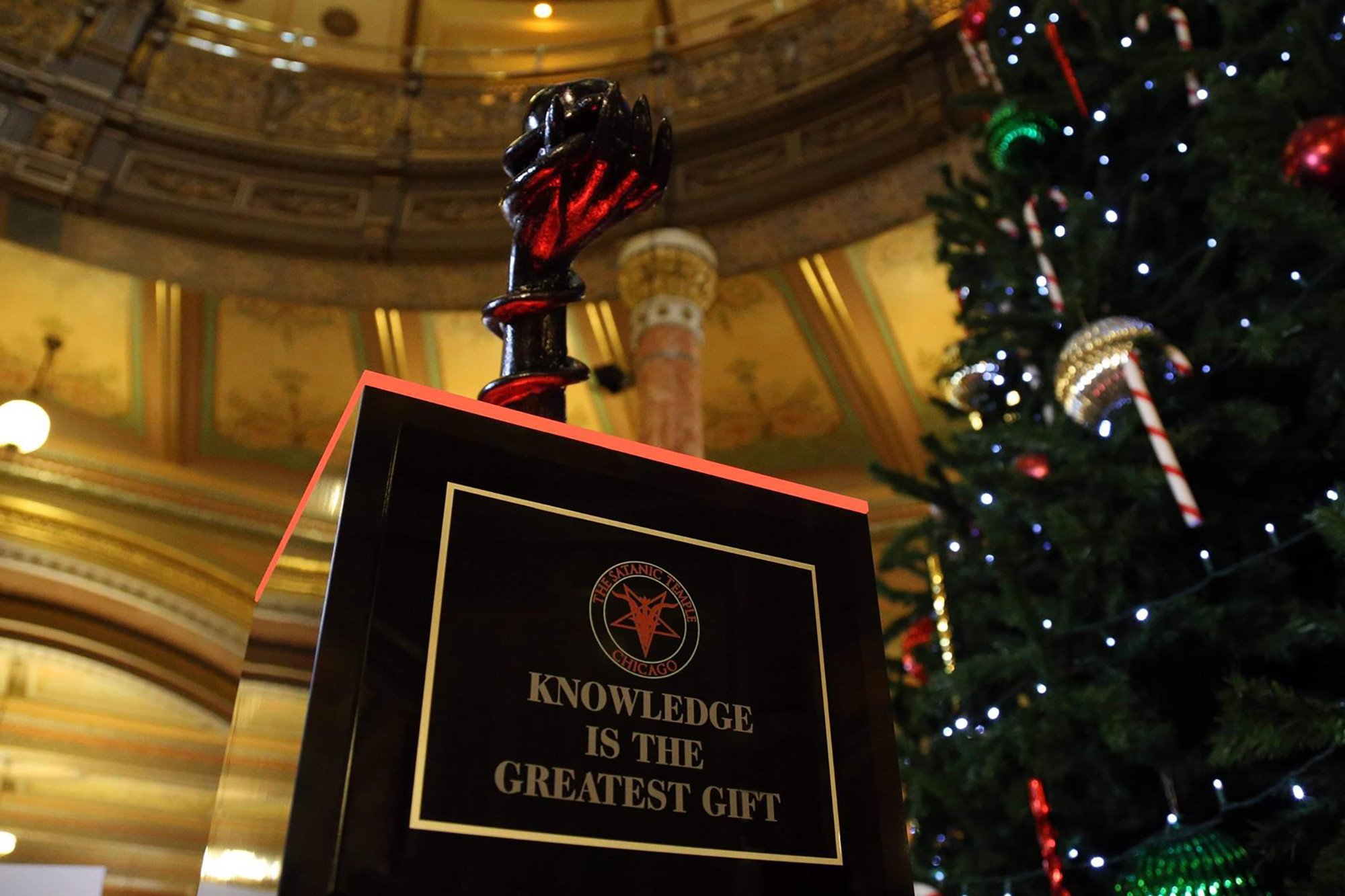Satanic sculpture causes hell for people at Illinois Statehouse