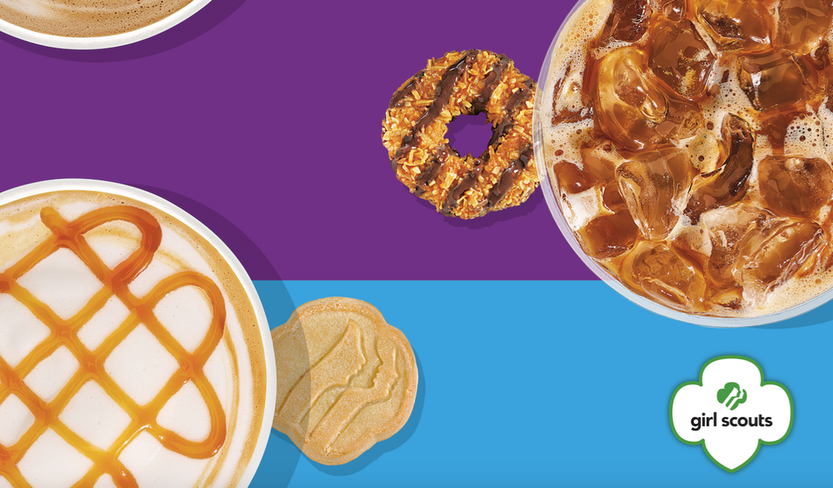 Dunkin's Girl Scout Cookie Coffees Are Coming Back — With A New Trefoils Flavor