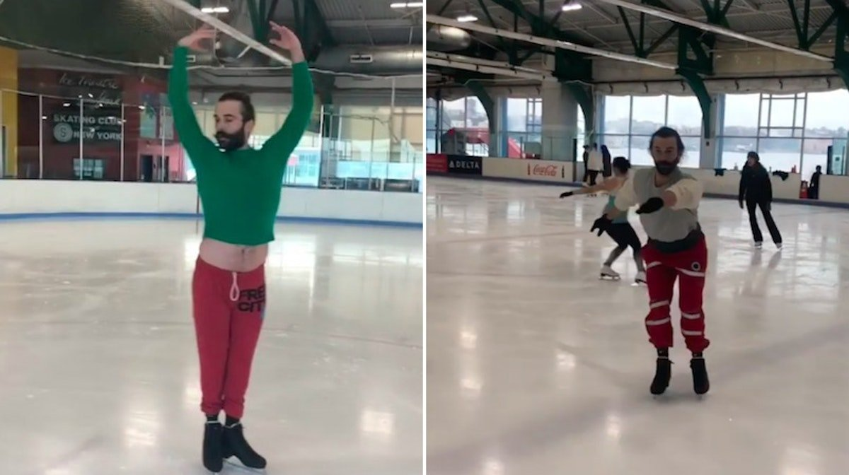 Jonathan Van Ness' Figure Skating Instagrams Will Make You Want To Get Out On The Ice, Too