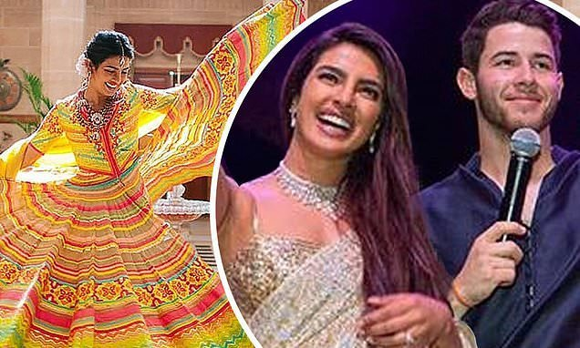 Nick Jonas and Priyanka Chopra have 18-FOOT CAKE at Christian wedding