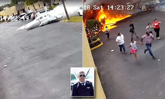 Autistic children flee plane crash inferno with their 'hero' mentors