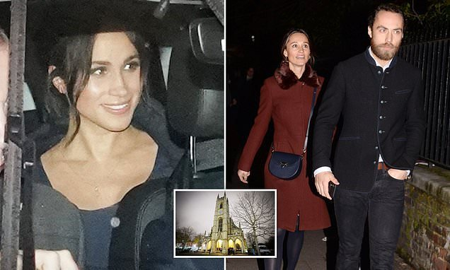 Pippa arrives at carol concert that Meghan is expected to address
