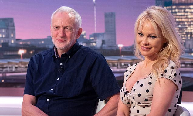 Pamela Anderson backs Jeremy Corbyn to sort out Brexit crisis