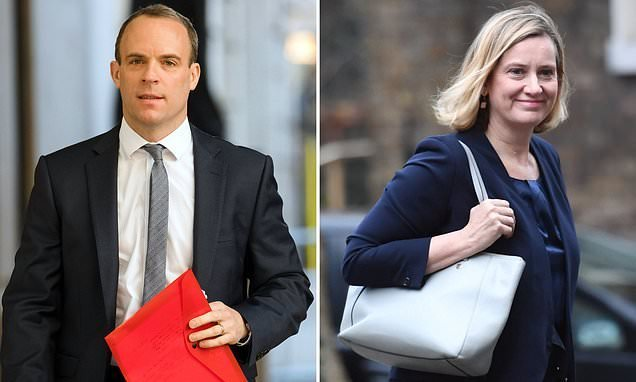 Former Brexit secretary Dominic Raab accuses Amber Rudd of 'sexism'