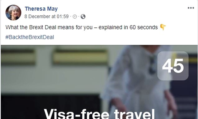 Government spent almost £100,000 promoting the Brexit deal on Facebook