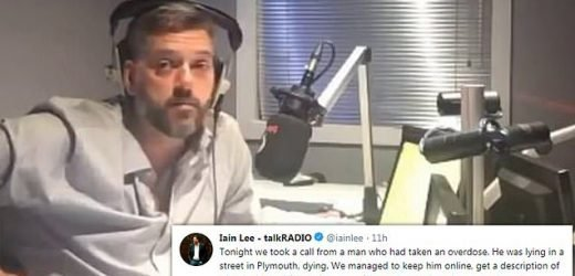 Radio presenter Iain Lee saved man's life by talking to him on air