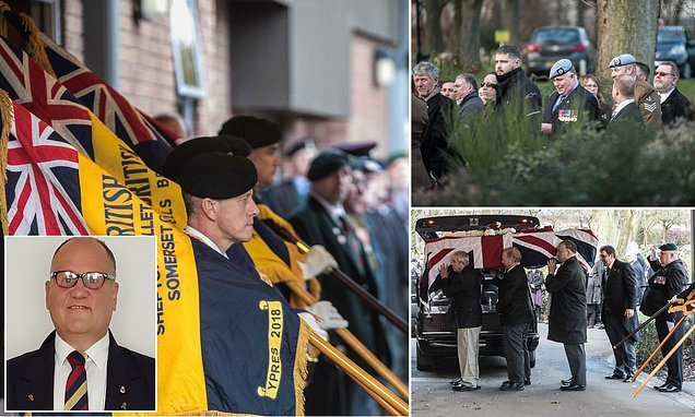 Strangers pay their respects to army veteran who took his own life