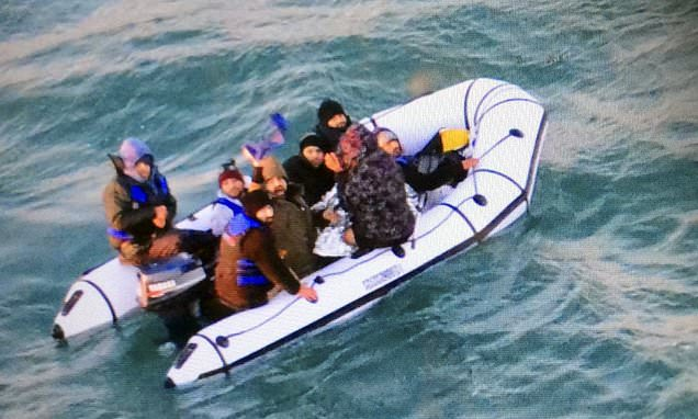 Forty migrants including two children are rescued from the Channel