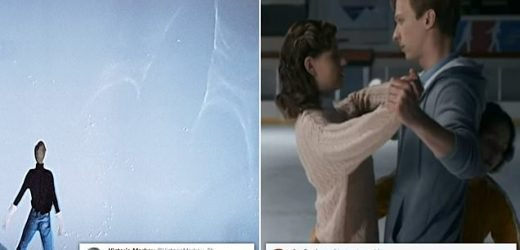 Rude ice design leaves viewers blushing in Torvill and Dean biopic