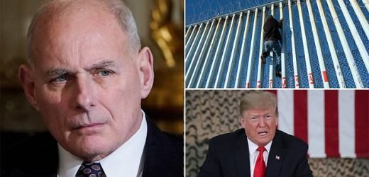 John Kelly admits White House gave up on concrete wall months ago