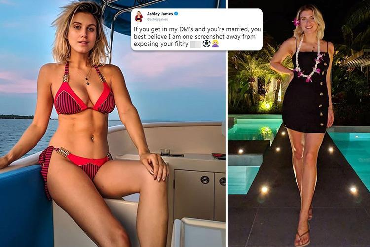 Made in Chelsea's Ashley James threatens to EXPOSE married men who 'get in my DMs' in Twitter rant