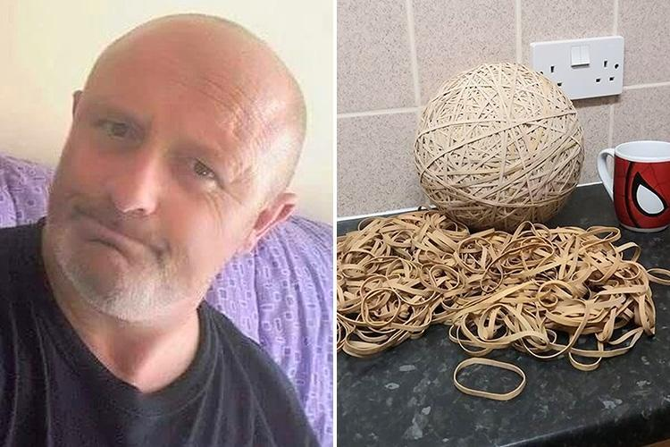 Grumpy eco-warrior demands Royal Mail pays £800k in litter fines after spending SIX YEARS collecting 10,000 elastic bands 'dropped by posties'