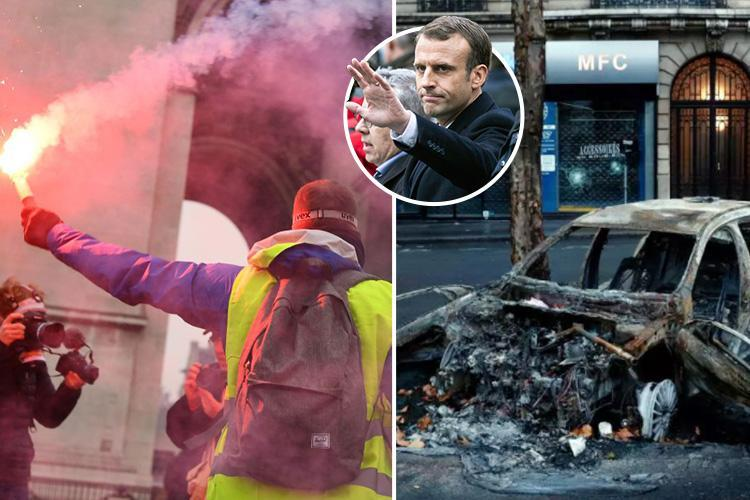 French cops admit 'we can't cope' as they beg under-fire Macron to put troops on the streets as rioters plan third weekend of violence