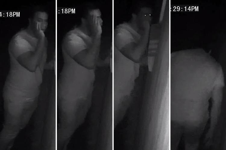 Chilling CCTV of vile perv creeping outside young girl's bedroom window released by cops hunting the 'peeping Tom'