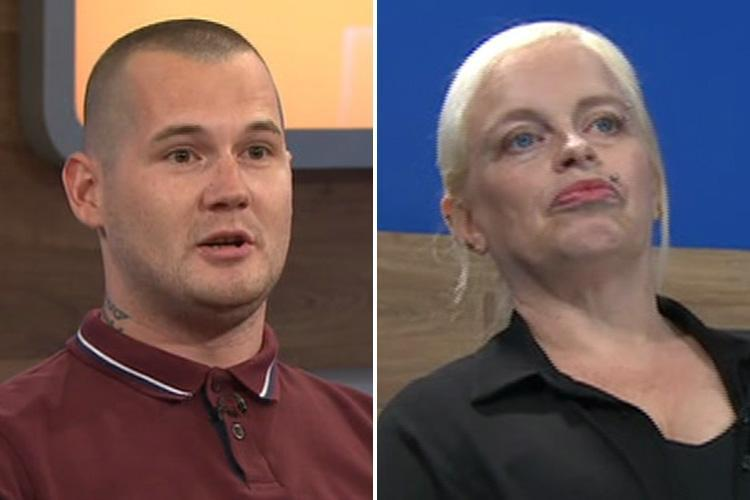 Jeremy Kyle Show love rat claims girlfriend's mum took off her bra and flashed her boobs after asking about the size of his package