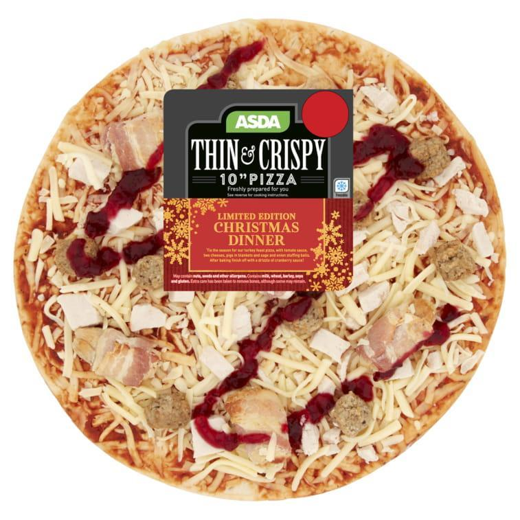 Shoppers are loving Asda's Christmas dinner pizza – and it even has pigs in blankets and cranberry sauce