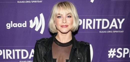 Dancer Julianne Hough Ditches Her Pants, Flaunts Long Legs & Painted Toes In Sexy Leather Look