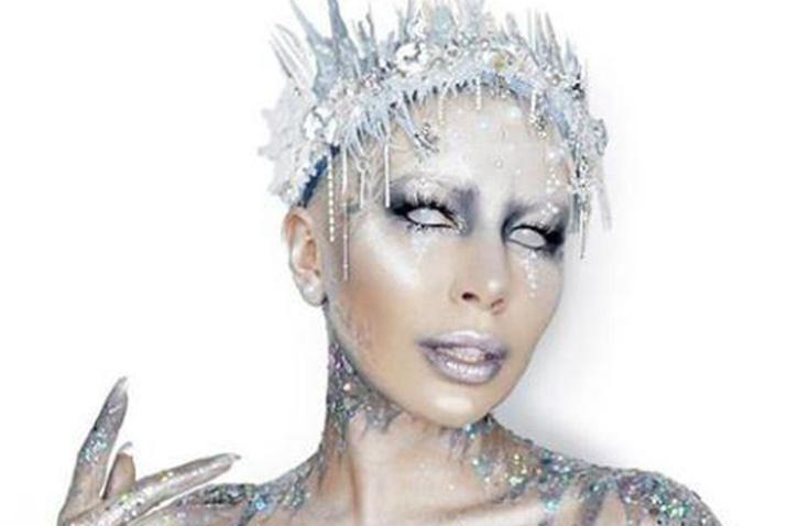 Love Island's Olivia Buckland strips naked and goes bald for glitter ice queen transformation