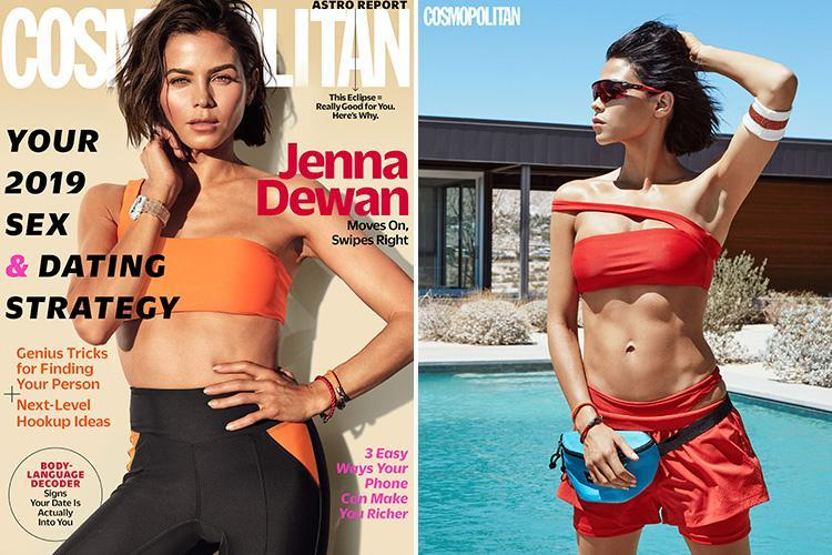 Jenna Dewan looks incredible in skintight workout gear for amazing new Cosmo cover