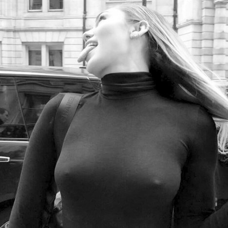 Miley Cyrus Can't Help But Go Braless in London