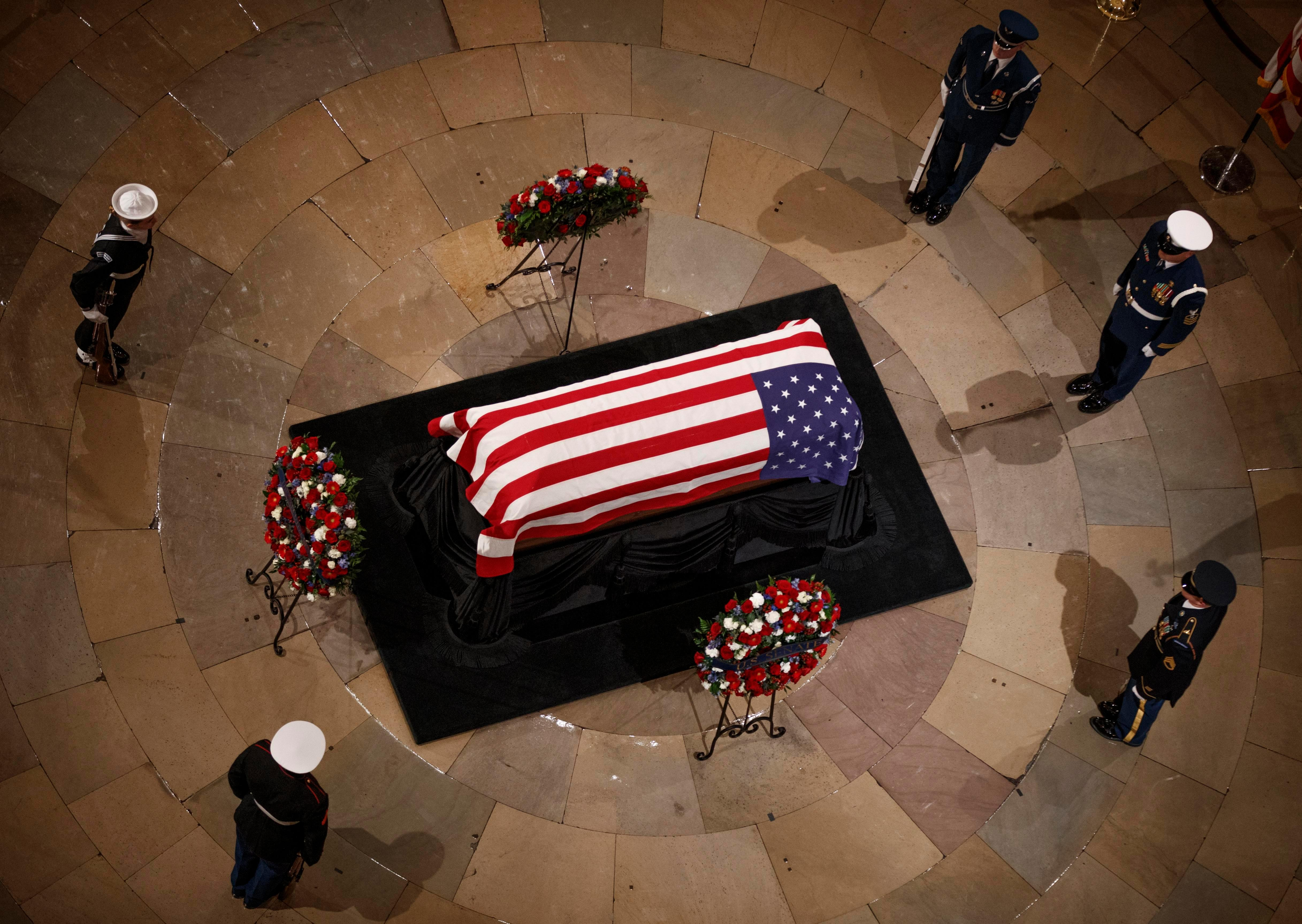 What time is George HW Bush's funeral and will Donald Trump be attending it?