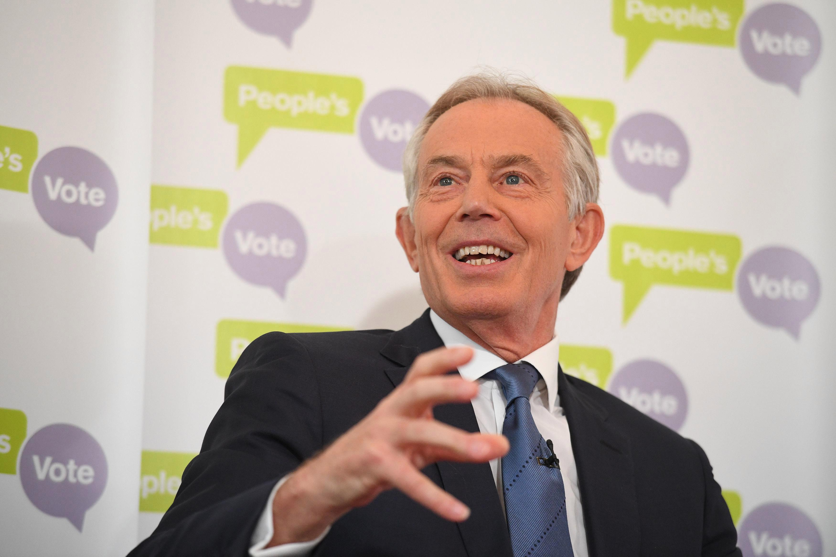 Tony Blair tells EU to be ready for second referendum on Brexit in weeks
