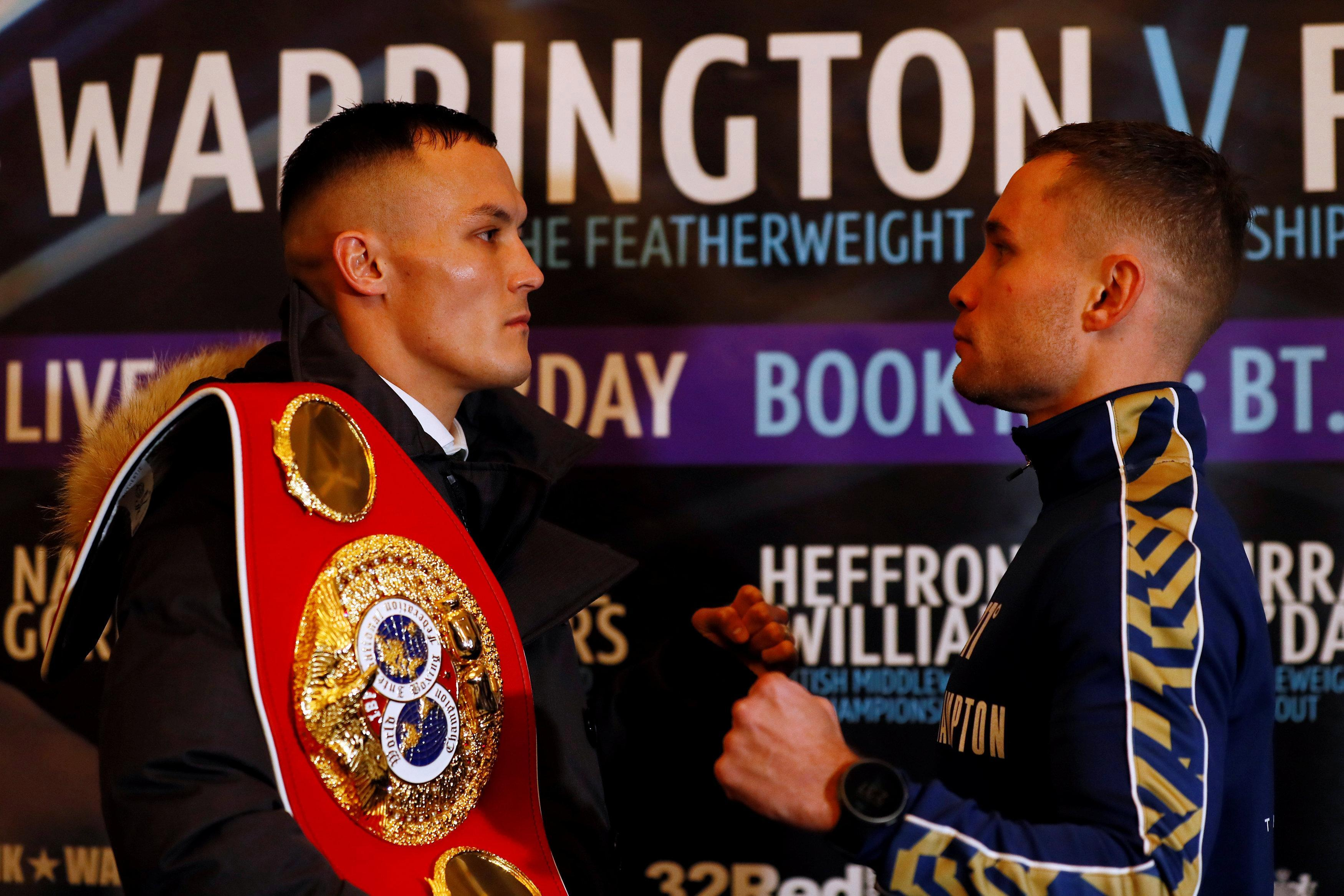 Warrington vs Frampton live stream: How to watch this IBF featherweight title battle
