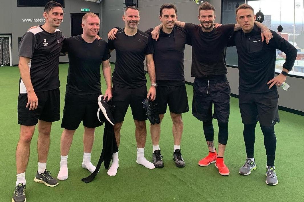 Beckham and Man Utd's Class of '92 pull boots back on to face Salford academy side