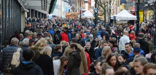 Millions of last-minute Christmas shoppers hit UK high streets in £1.7BILLION Super Saturday bonanza