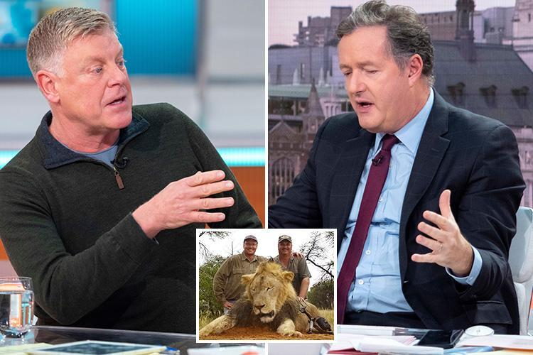 Piers Morgan rips into trophy hunter asking if he'd like being 'skinned alive and his head put on GMB studio wall'
