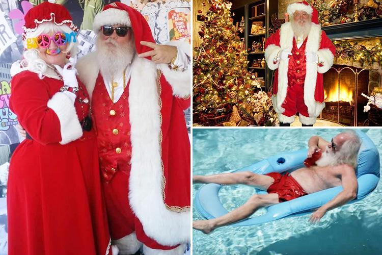 Professional Santas who earn £20k in a month reveal why they have to wear bright gloves in photos