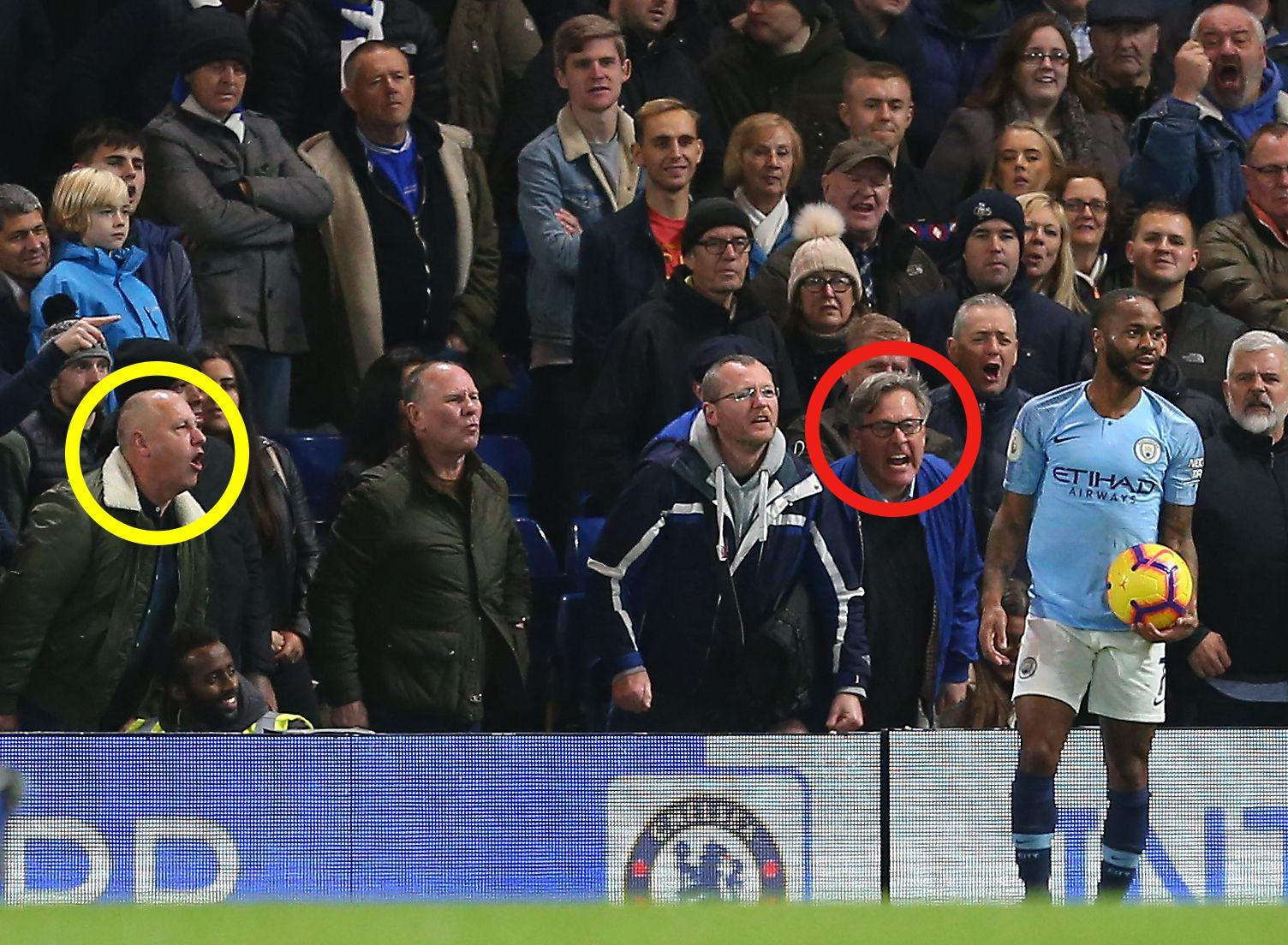 Chelsea fan says SORRY after being filmed hurling insults at Raheem Sterling and denies hearing racist abuse, claiming he called him an 'embarrassment to England'