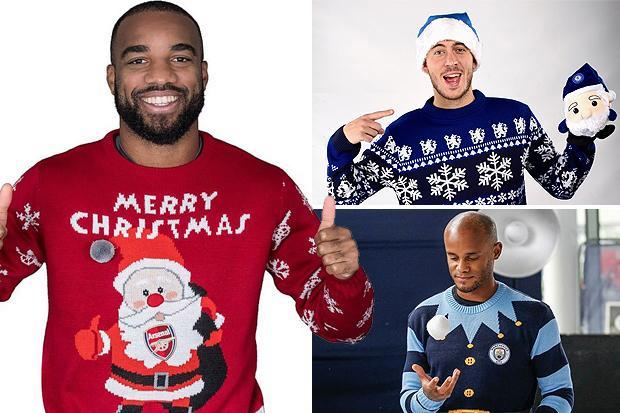 Arsenal, Chelsea and Man City stars wear Christmas jumpers as they get into festive spirit for charity