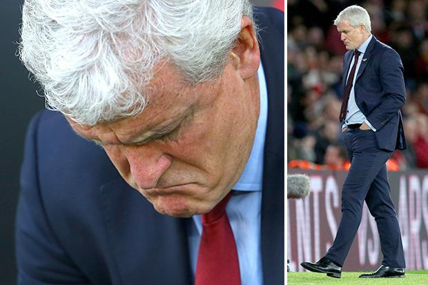 Southampton sack Mark Hughes after shocking start to Premier League season leaves them in relegation zone