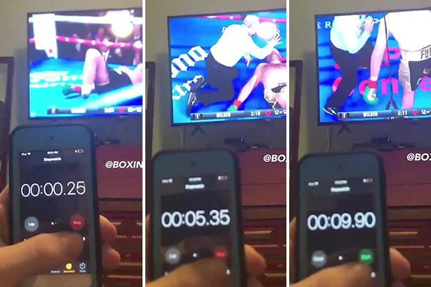 Video shows Tyson Fury only 0.1 seconds away from being counted out after Deontay Wilder punch… disproving fan theory he was down for 14 seconds