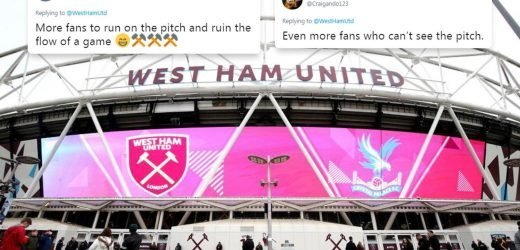 West Ham trolled by own fans after boasting London Stadium now fits 60,000