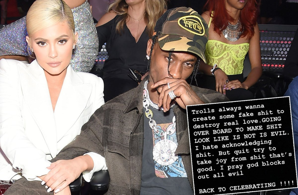 Travis Scott Claps Back At Haters Amid Rumors He Cheated On 'Wifey' Kylie Jenner