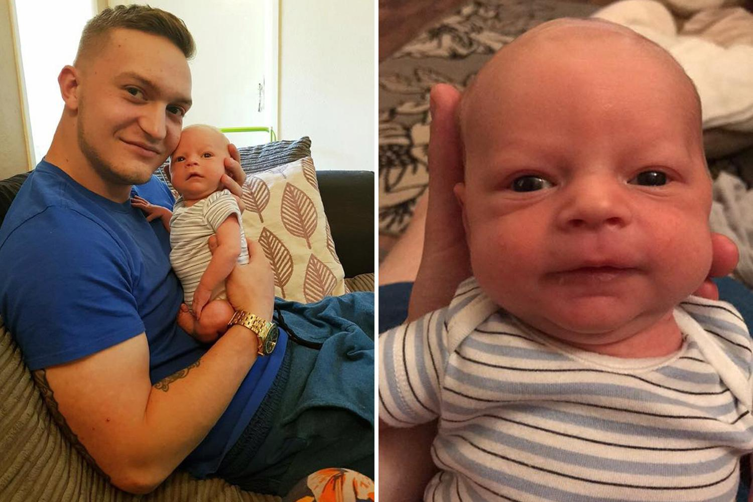 Heartbroken dad wakes to find baby son dead in his arms just two hours after they fell asleep on sofa
