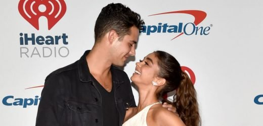 Sarah Hyland & Wells Adams 'Sword Fight' With Tongues On Lakers' Kiss Cam