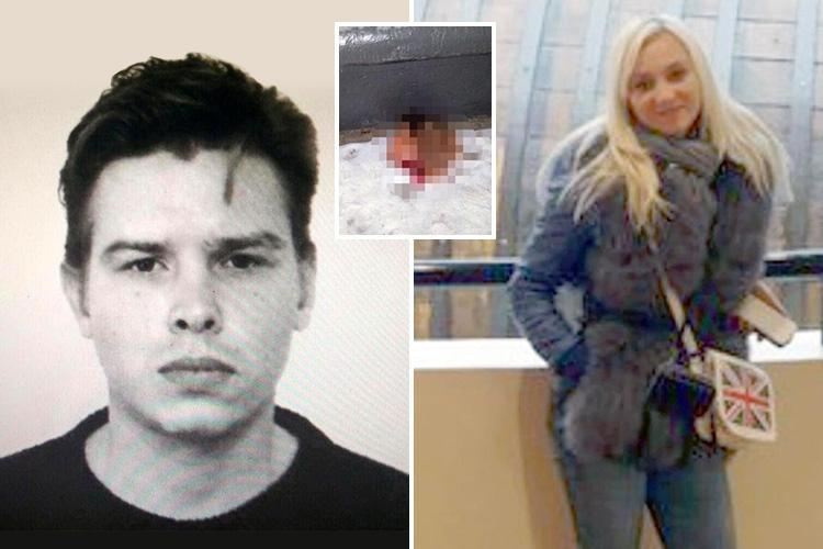 Russian sicko carries severed blood-drenched head of his 'witch' lover after beheading her inside his flat