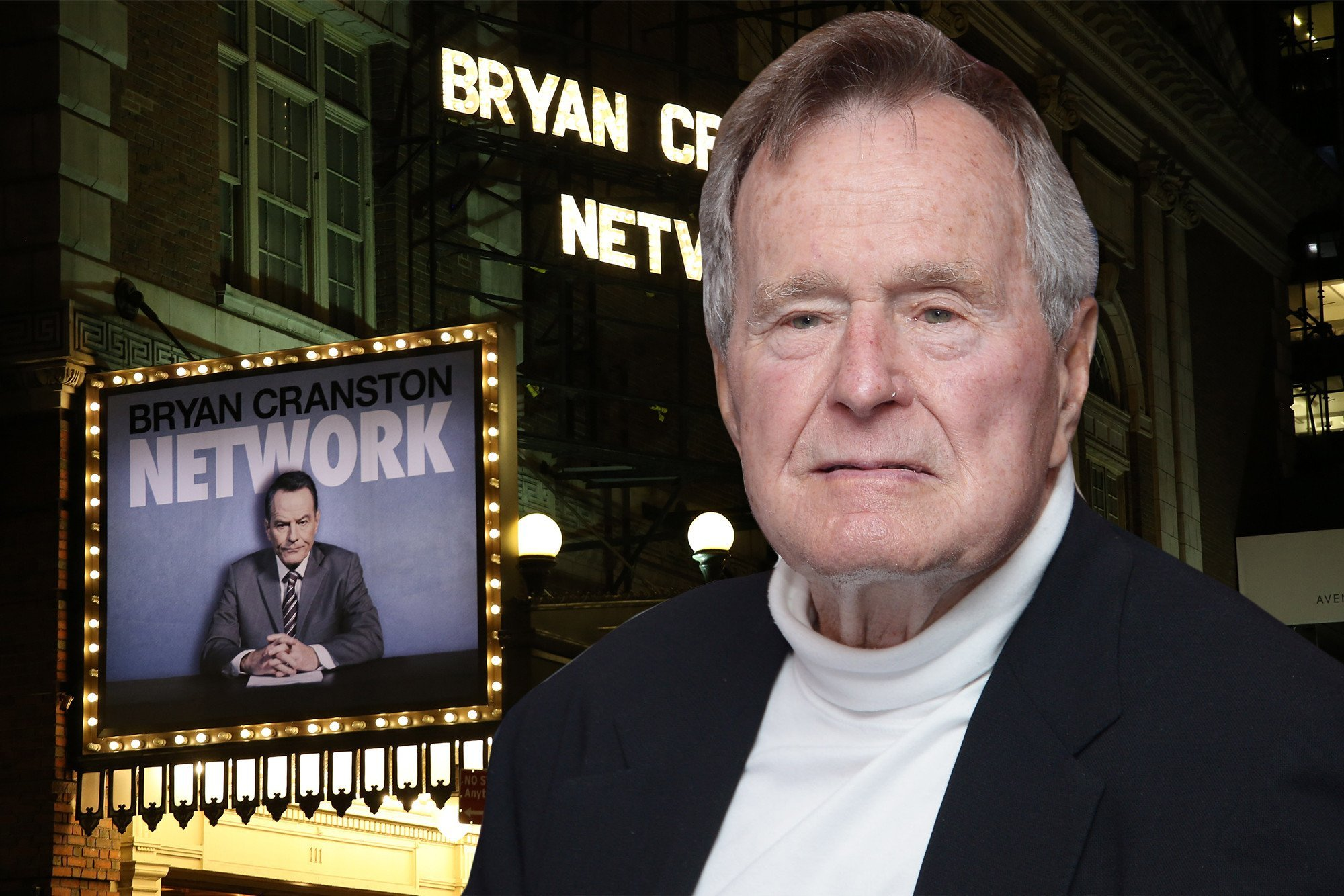 'Network' audience pays tribute to George H.W. Bush