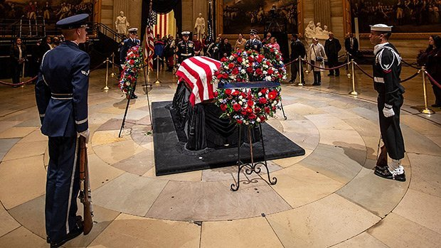 George H.W. Bush's Funeral: Former President Honored By Family, Friends, & Other Presidents In DC