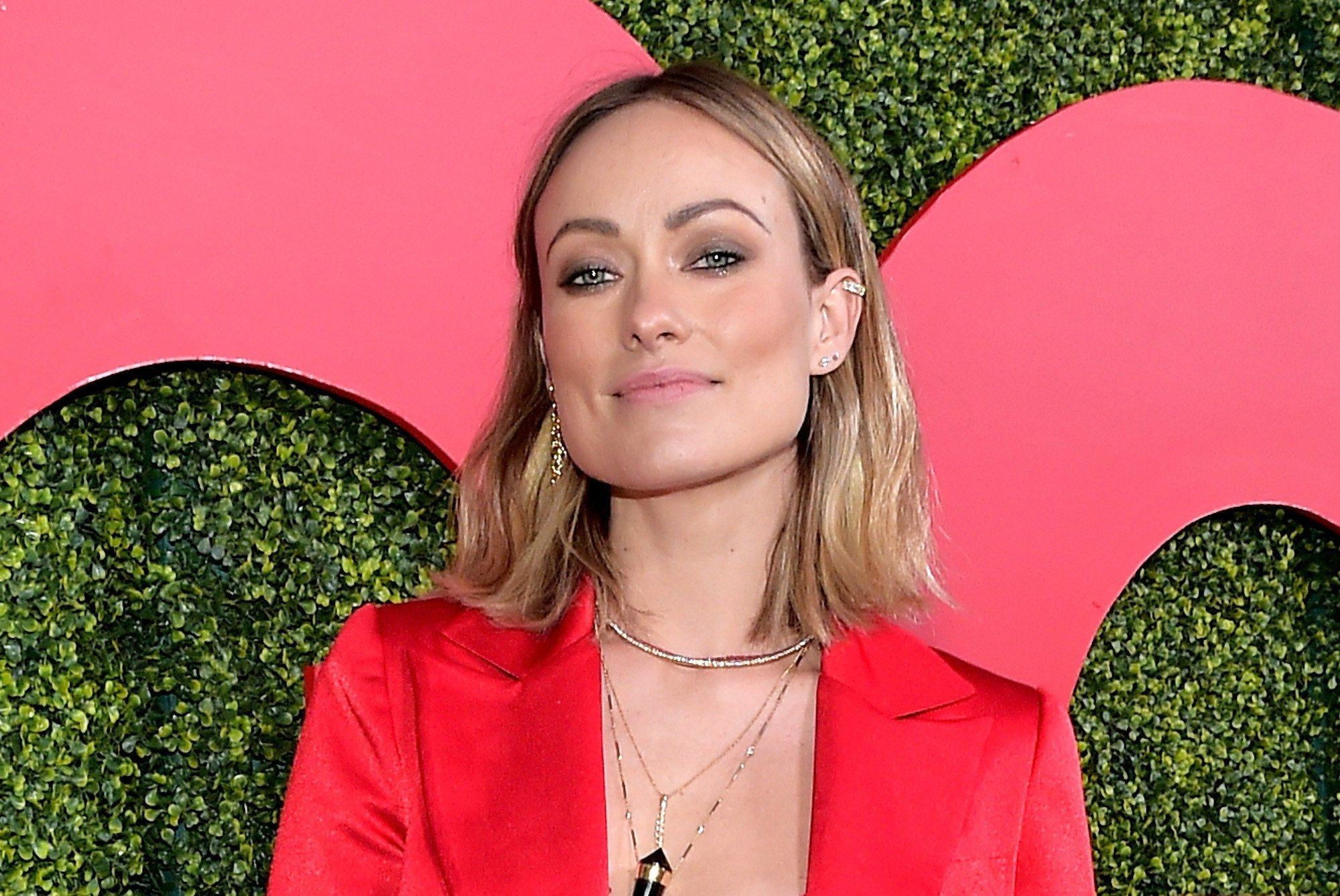 Olivia Wilde wore a bra as a shirt at the GQ Men of the Year Party